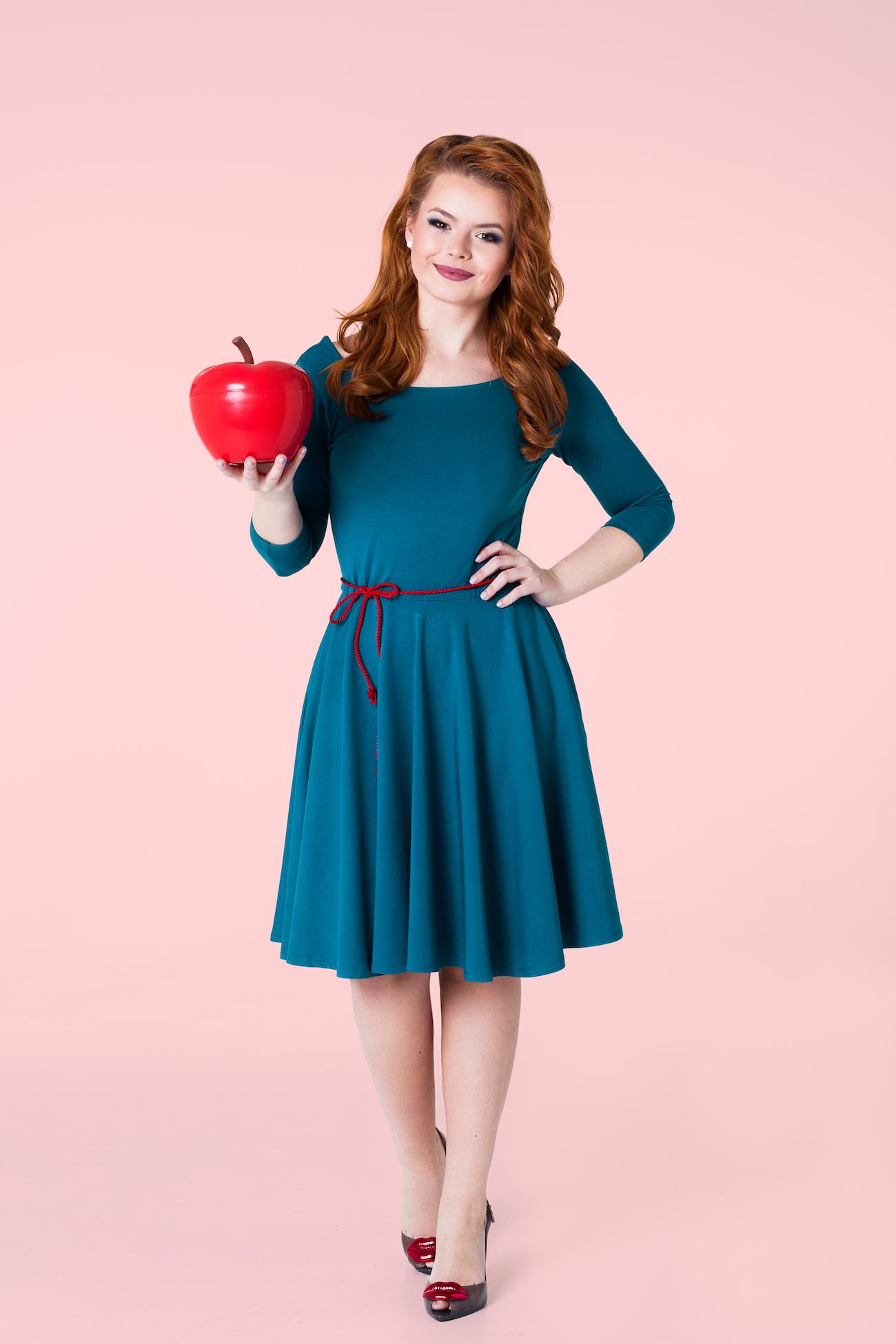 Nefritové šaty s 3 4 rukávy Lovely ea526e89c2f