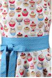 Luxusní kuchyňská zástěra Cupcake blue dots