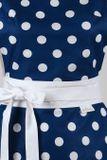 Šatová kuchyňská zástěra Retro modrá