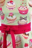 Luxusní kuchyňská zástěra Cupcake cyklamen