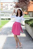 Zavinovací sukně Retro cyklamenová puntíkatá
