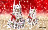 kuchařskou zástěru s vánočním motivem