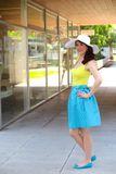 Zavinovací sukně Retro tyrkysová puntíkatá