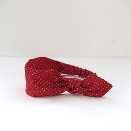 Čelenka puntíková červená Pretty red dámská