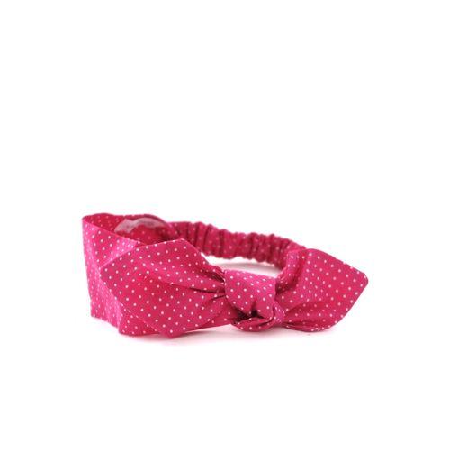Čelenka růžová tečkovaná s mašlí Pretty pink dámská