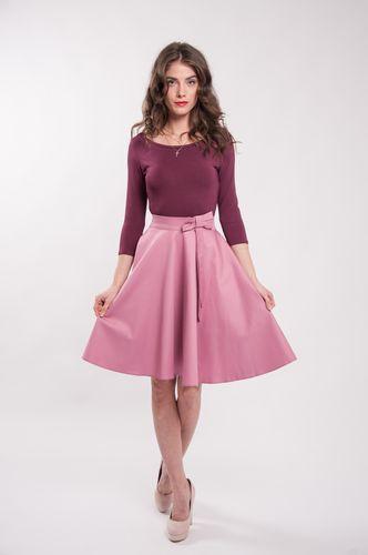 Kolová  starorůžová sukně Lovely