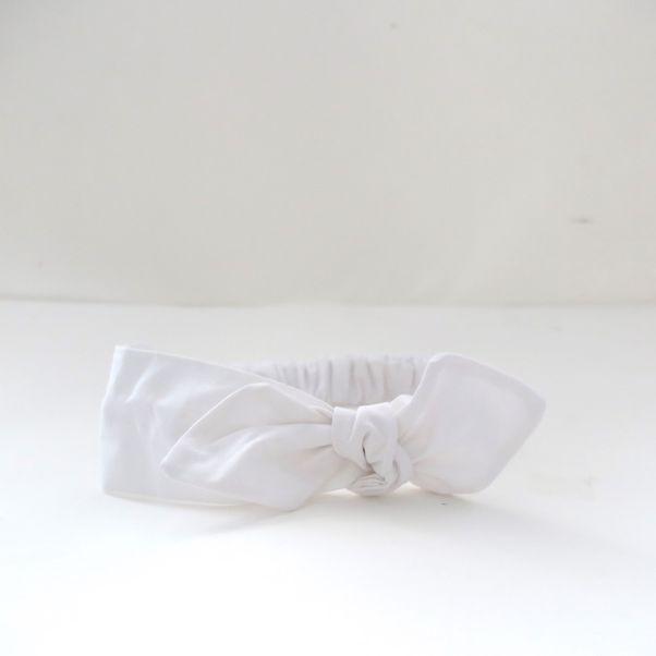 Čelenka bílá s mašlí dámská