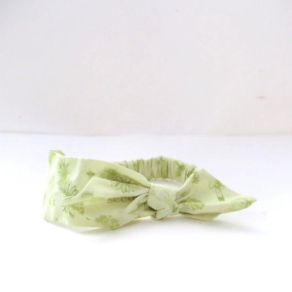 Módní čelenka s mašlí Butterfly green dámská