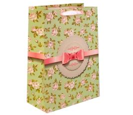 Dárková taška s mašlí zelená
