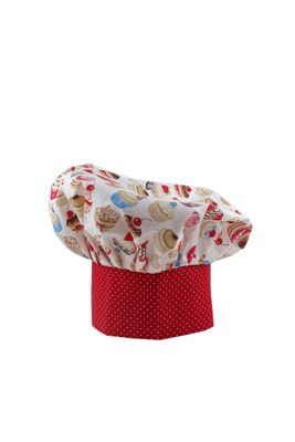 Kuchařská čepice Cupcake red