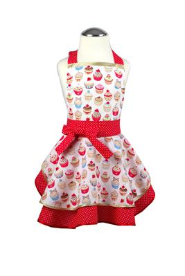 Dívčí kuchyňská zástěra Cupcake dots