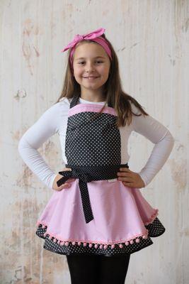 Dívčí kuchyňská zástěra Pretty pink