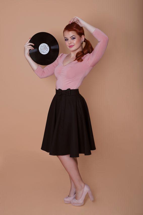 Kolová černá sukně Lovely
