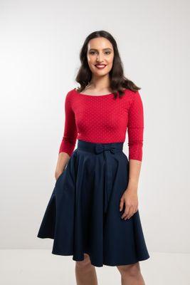 Kolová  tmavě modrá sukně Lovely