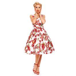 e42139f1c6a3 Retro šaty bílé květinové Tulip