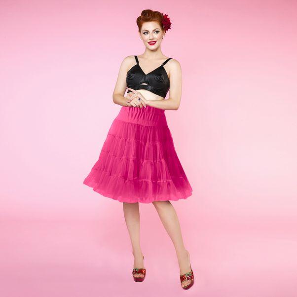 Růžová retro spodnička