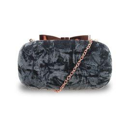 Sametová společenská kabelka Chic gray