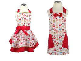 Set zástěra pro kluka a holčičku Cupcake dot