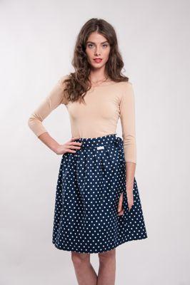 Zavinovací sukně puntíkatá Retro modrá Navy