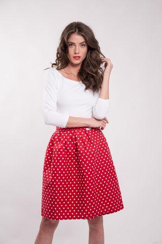 Zavinovací sukně puntíkatá Retro červená