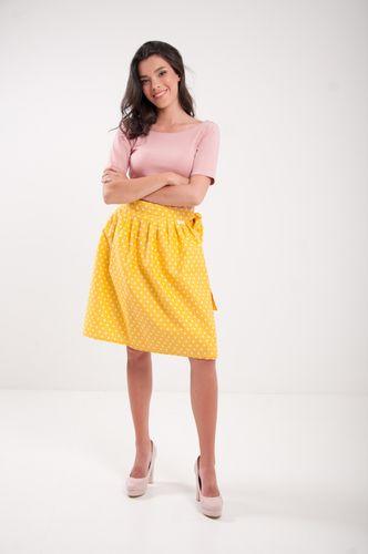 Zavinovací sukně puntíkatá Retro žlutá